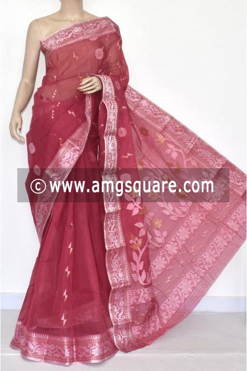 Move Handwoven Bengal Tant Cotton Saree (Without Blouse) 14016