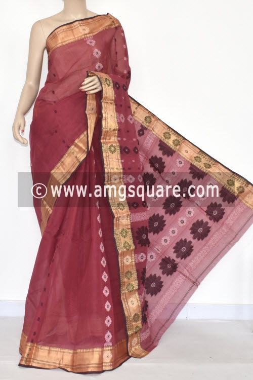 Move Handwoven Bengal Tant Cotton Saree (Without Blouse) 17333