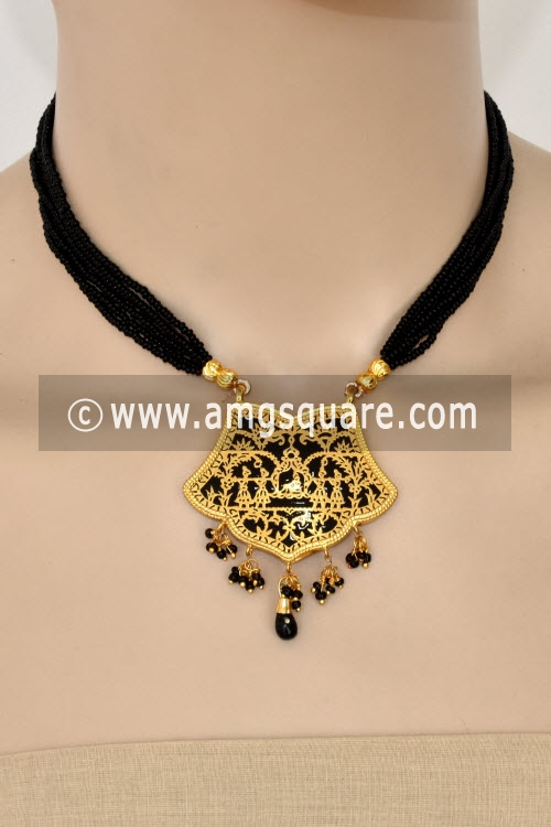 Black Traditional Thewa Pendant Set 11272